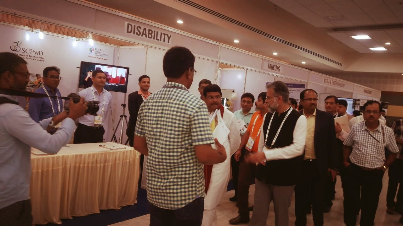 SCPwD participated in Skill Exhibition in Bhubaneshwar, Odisha - 15th to 17th July'18