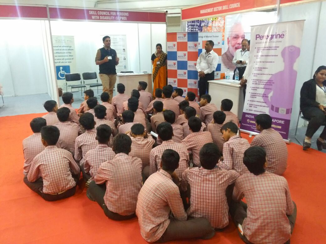 SCPwD participated in Career Conclave at Pragati Maidan, New Delhi. (Dated: 01st & 2nd May-18)